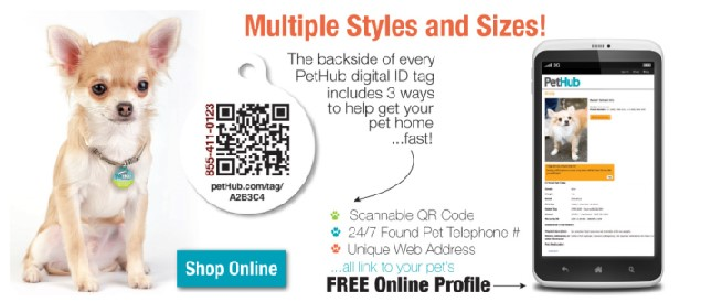 Signal Tag pet finder device and system