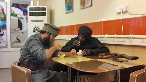 Abu Hamza al-Britani with Somali colleague
