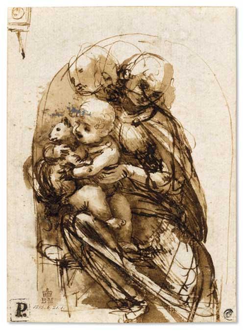 Leonardo's Virgin and Child with Cat