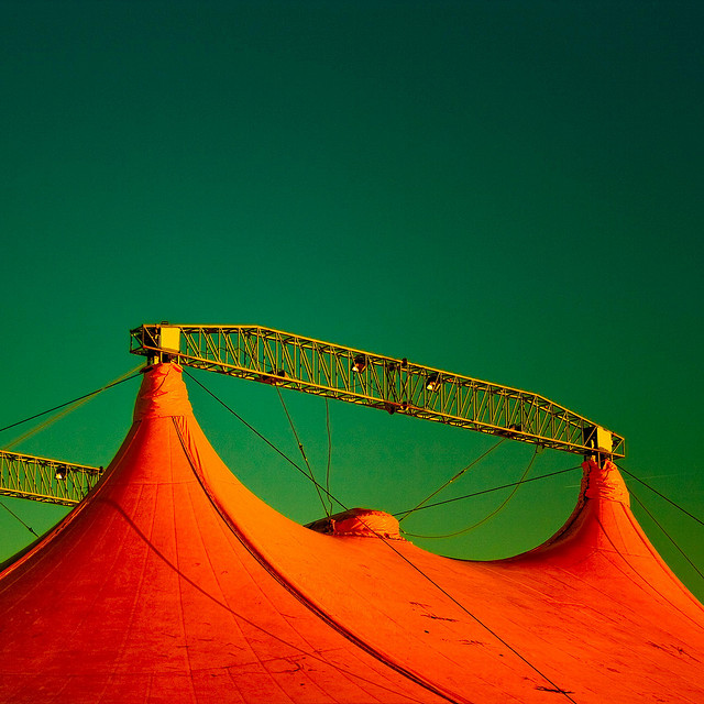 The Circus Came to Town. Photo of big top