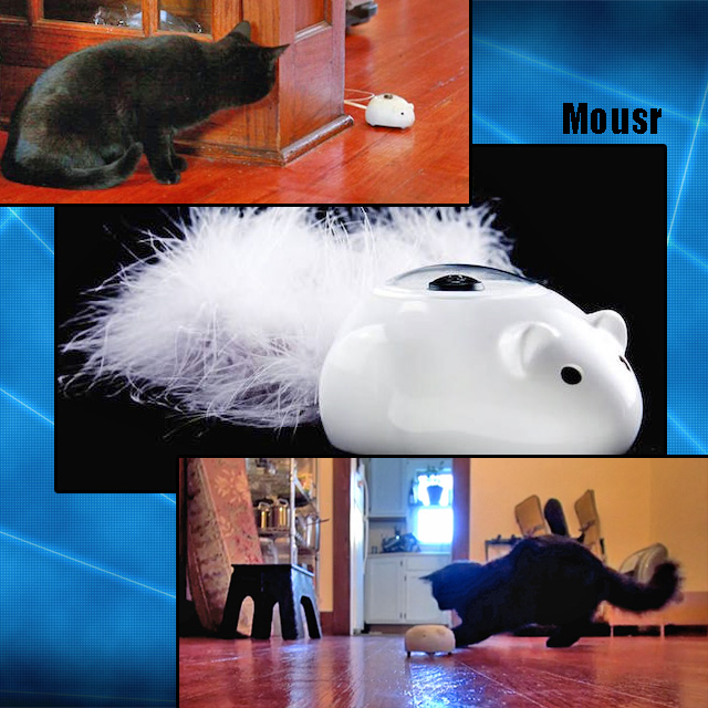 Mousr - artificial intelligence in a cat toy mouse