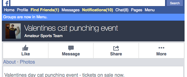 Valentines day cat punching event