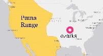Ozarks outside of puma range officially
