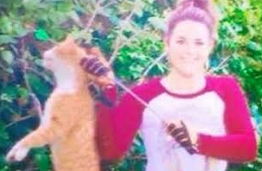 Kristen Lindsey and dead cat