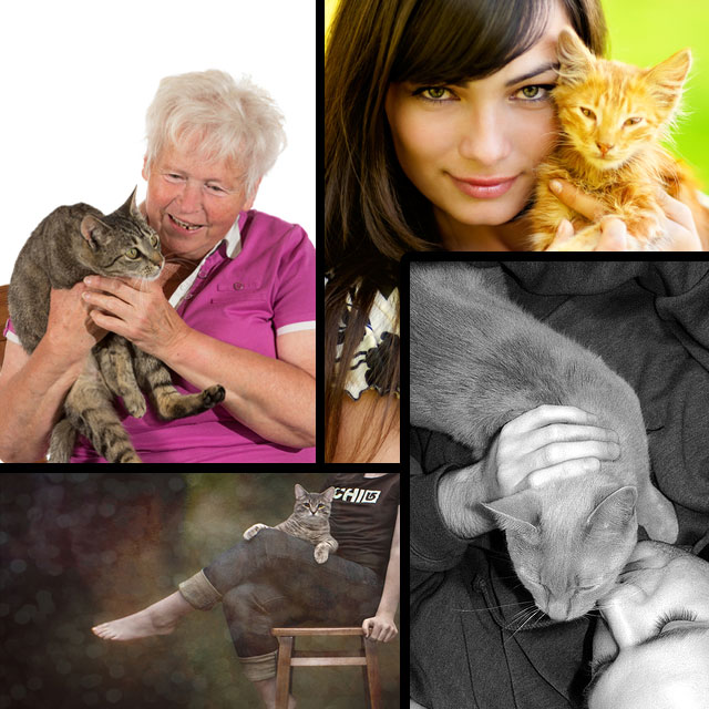 People and cats