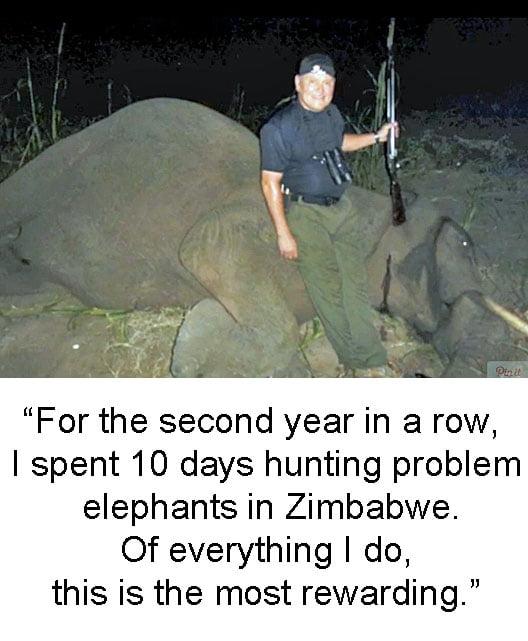 Bob Parsons shooting elephants
