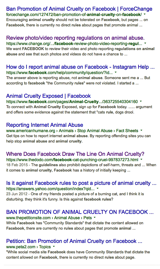 Facebook accept animal abuse on their site