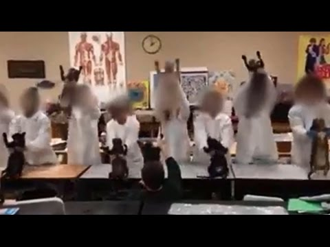 students make video at school with dead cats