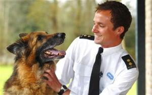 RSPCA staffer with dog
