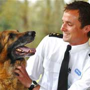 RSPCA staffer and dog