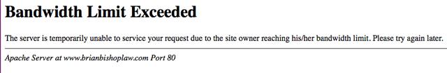 server error 509