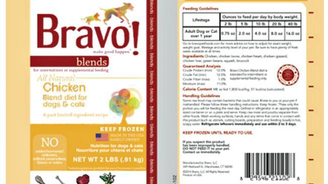 Bravo product recall July 2015