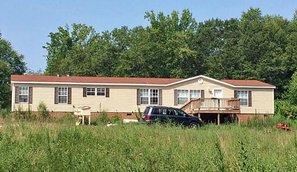 The home where alleged animal and child abuse took place