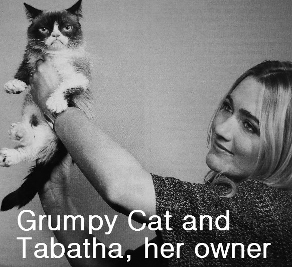 Grumpy Cat and Tabatha