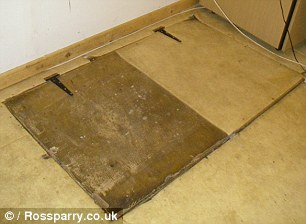 Trap door leading to hell hole for animals.