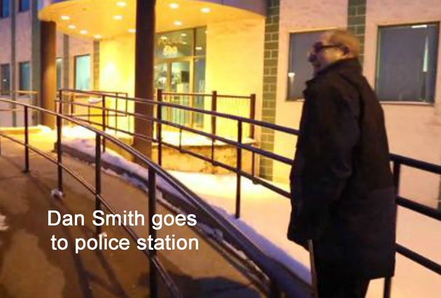 Dan Smith goes to police