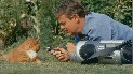 Martin Clunes and cat