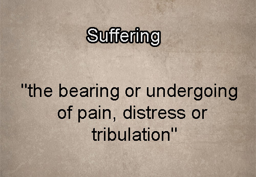 Meaning of the word suffering