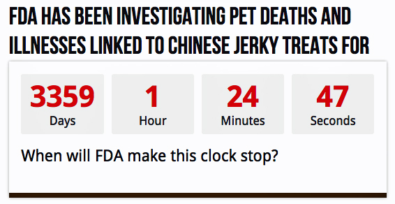 Chinese jerky treats poisoning American pets