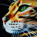 Steve Keiper painting of cat