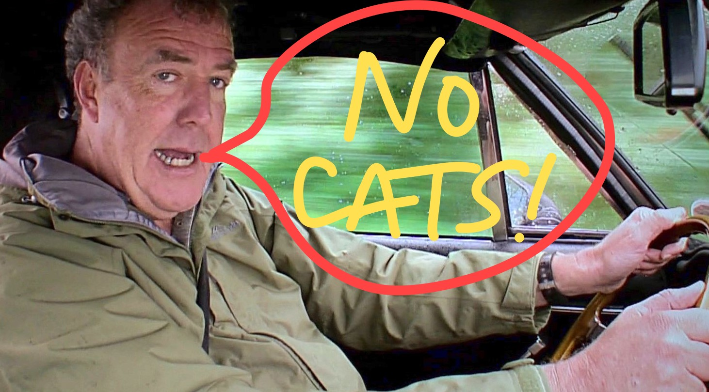 Clarkson hates cats