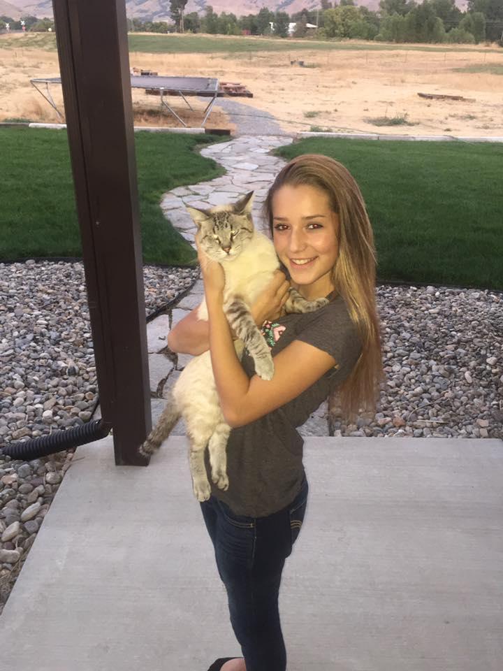 Girl Hunter loves her cat