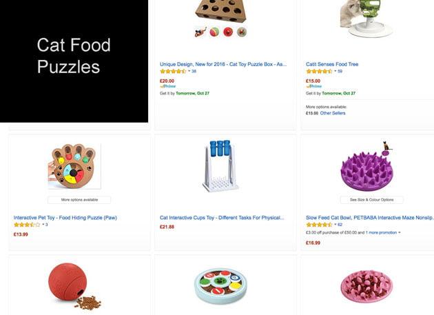 Cat food puzzles