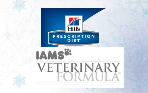 Hill's Prescription and Iams Veterinary Formula