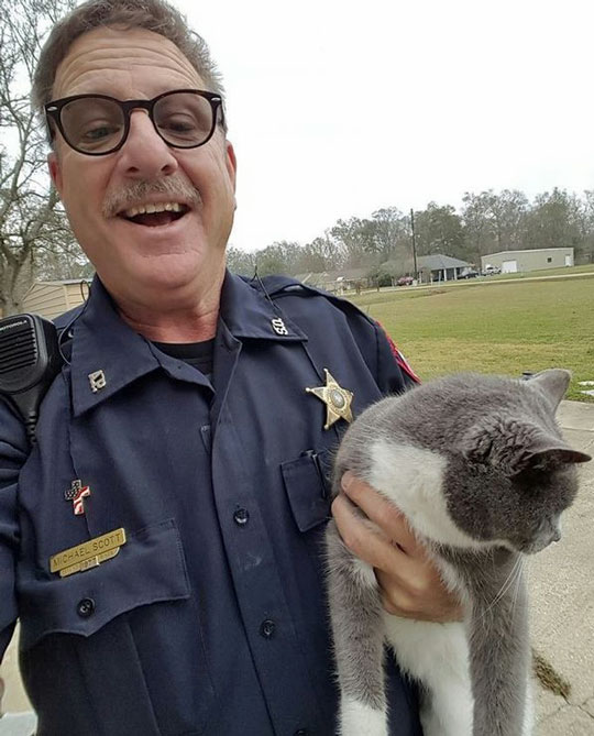 Bella with Sheriff after the ordeal