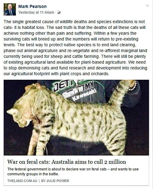 MP Pearson on feral cats