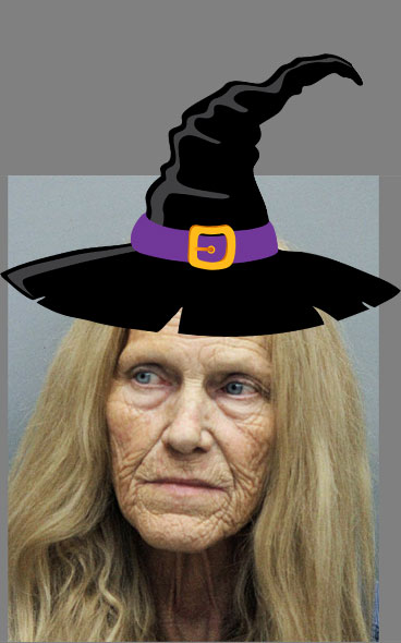 Cat abusing witch - Sandy Chauvin