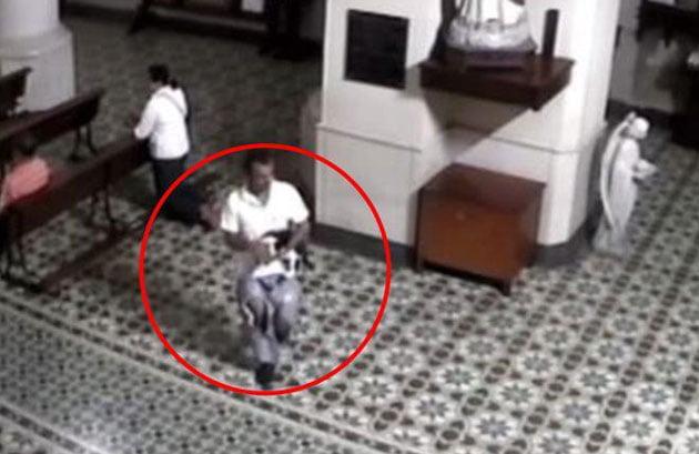 Man stole sacrificed and ate church cat