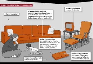 Where flame retardants are found
