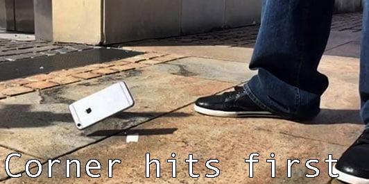 iPhone falling