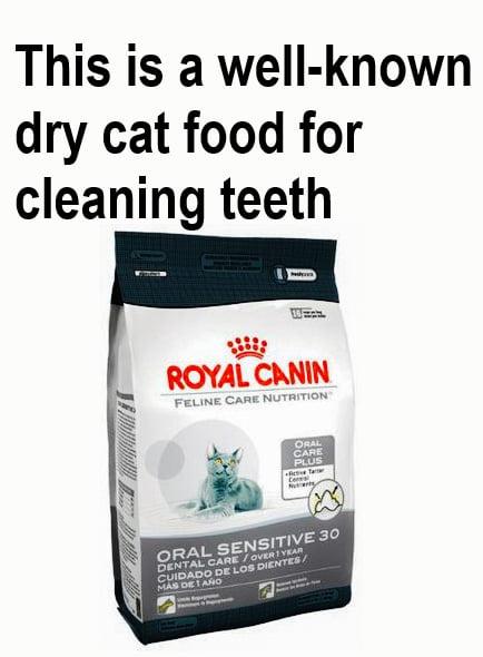 Does dry cat food clean teeth?