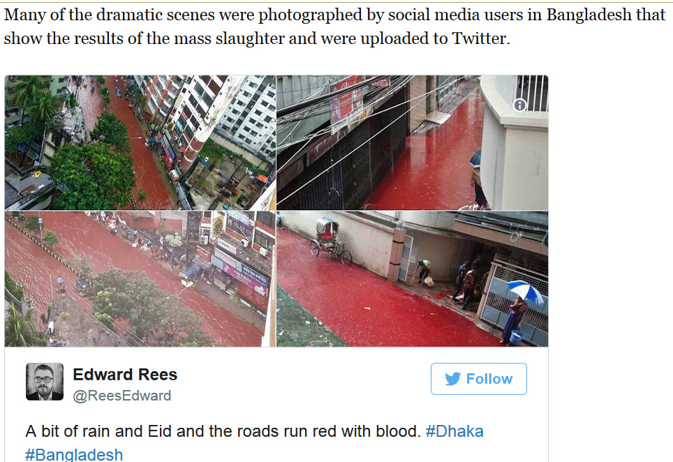 EID Bangladesh - rivers of blood on the street
