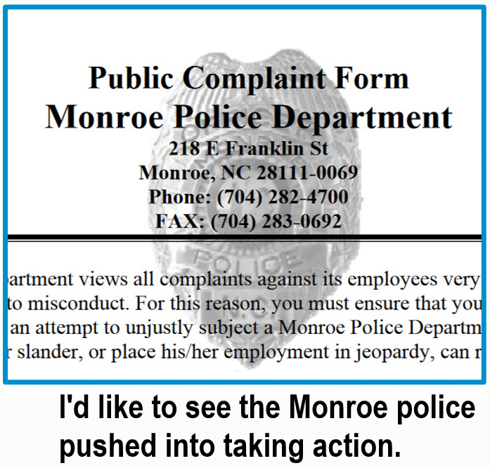 Make a complaint to Monroe Police to force them to take action in cat cruelty case