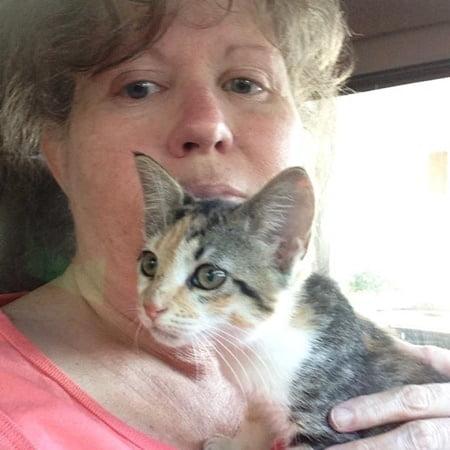 Janice and kitten
