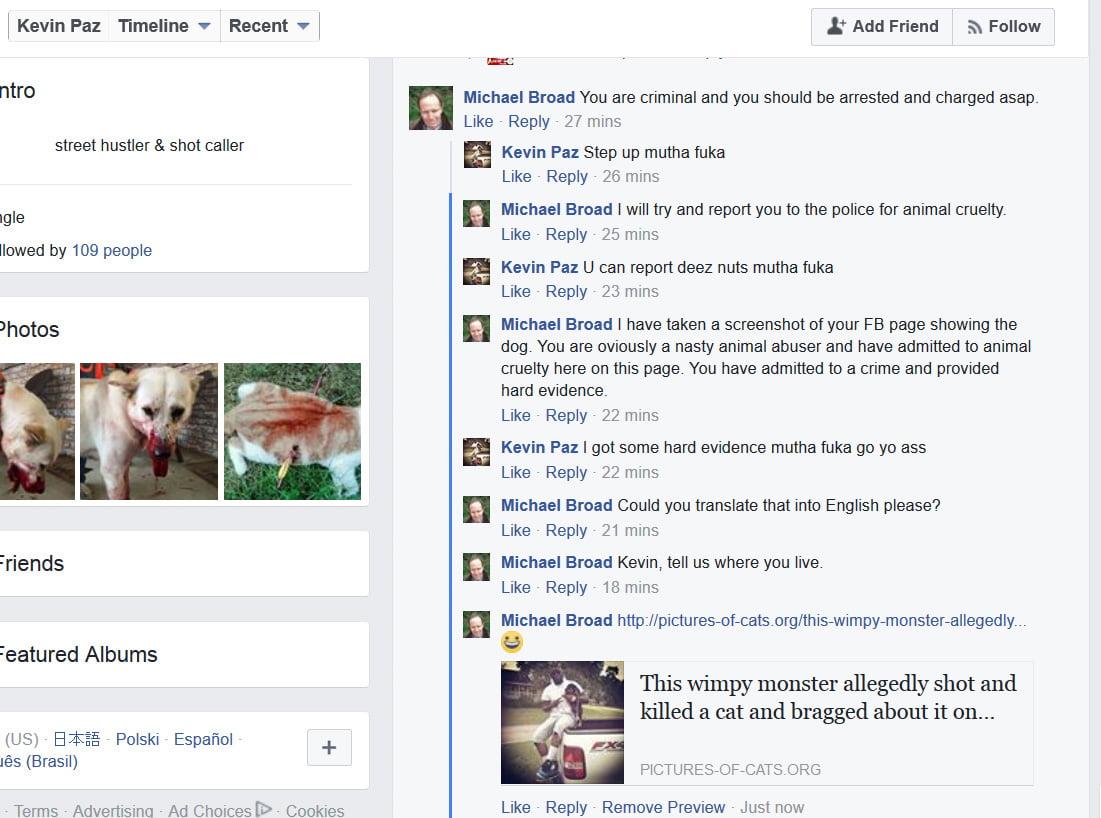 Animal abuse on FB