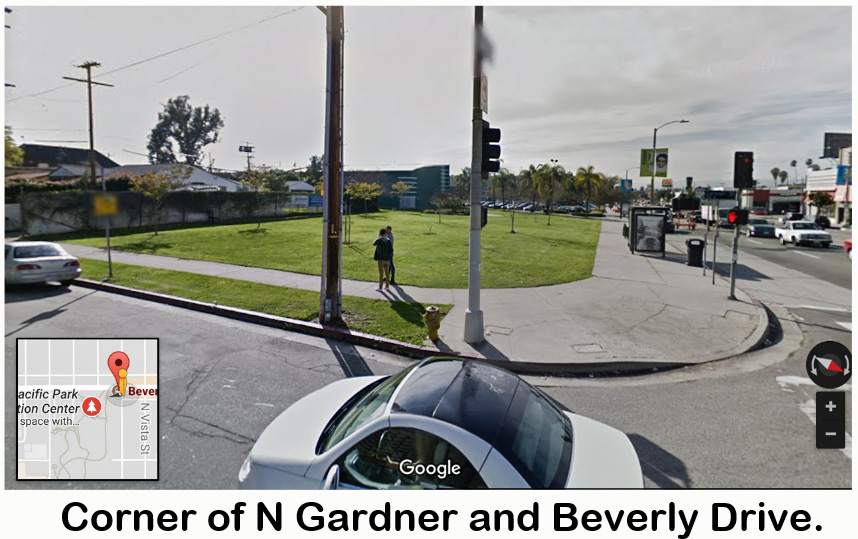 Corner Gardner and Beverly Drive LA