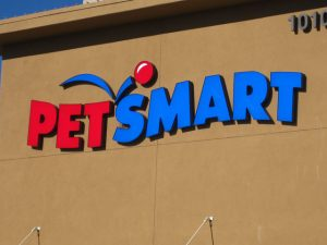 Petsmart stores cat food in direct sunlight behind large windows