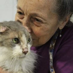 Siglinda with Dusty, an 18y old neglect case survivor