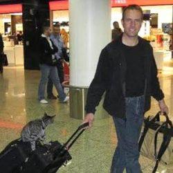 Cat flier at Frankfurt International Airport