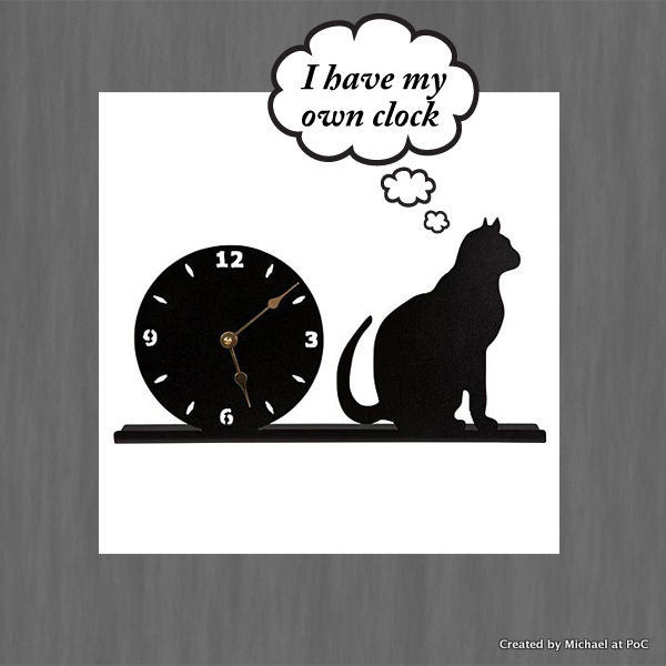 How do cats tell the time?