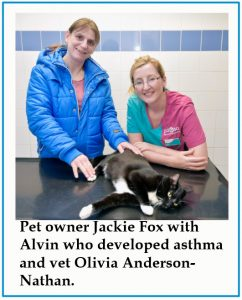 Cat, Alvin, developed asthma through passive smoking