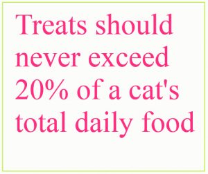 How many treats to give a cat a day?