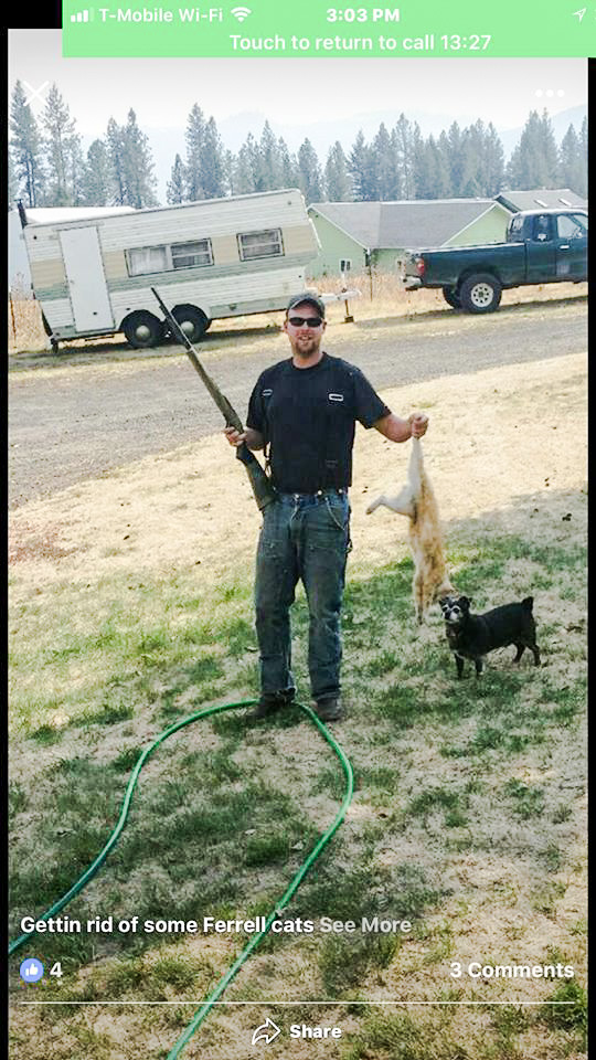 Dumbass Redneck Who Likes To Shoot Feral Cats