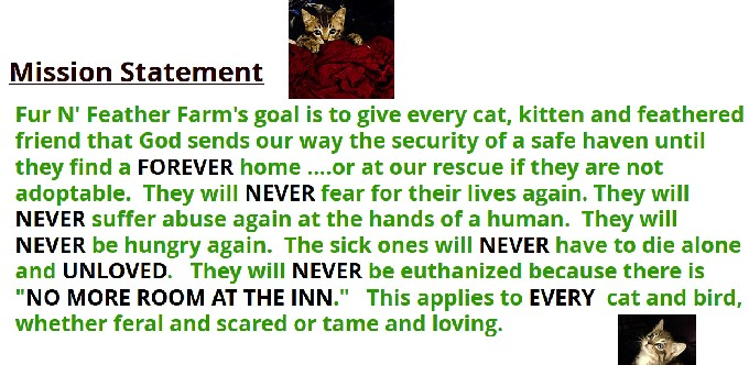 Fur 'N Feather Farm Mission Statement