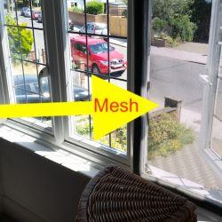 Fix mesh to upstairs window