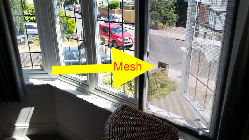 Fix mesh to upstairs window
